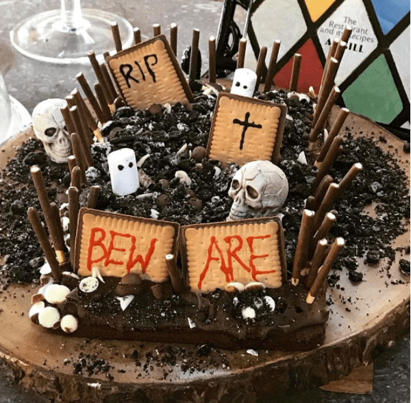She also made a Graveyard cake