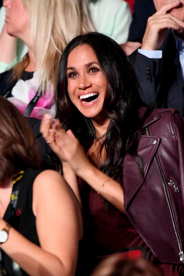 Meghan has spoken out about her 'great love story' with Harry