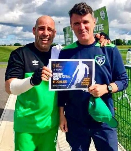And Keane is often to be found helping good causes. Here he is involved with the 2017 European Amputee Football Championship
