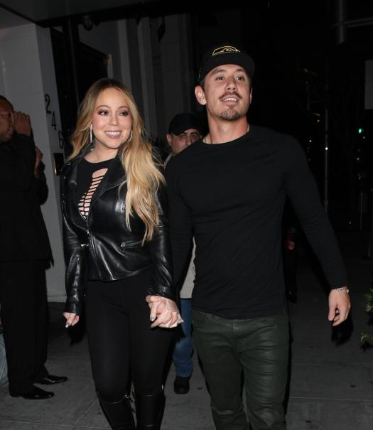 Mariah Carey and Bryan Tanaka looked loved up out for dinner last night