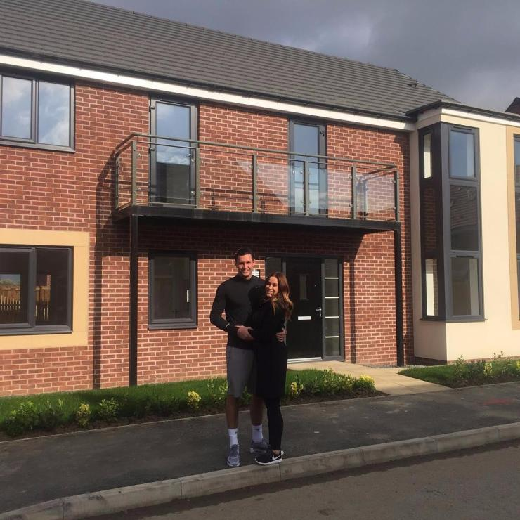 Vicky and John couldn't hide their delight as they bought their first home together