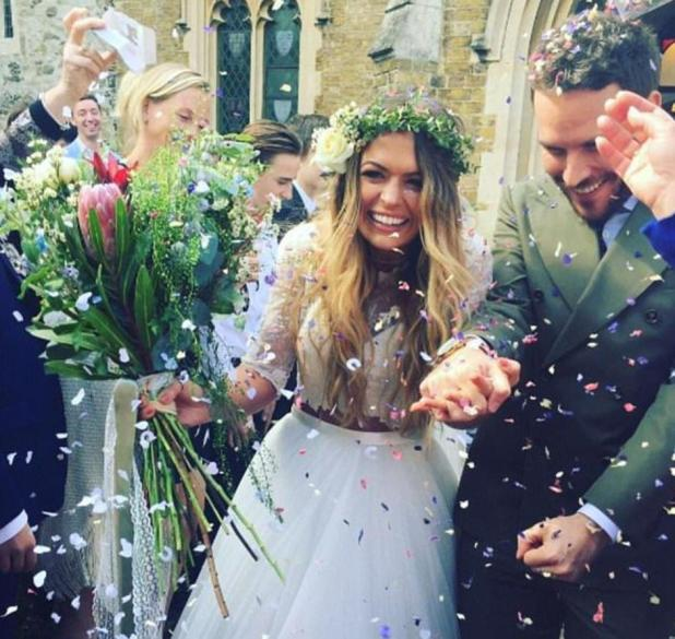The wedding took place in April