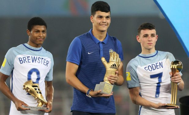 The England team switched their shirts round but most of the attention went on their top scorer Rhian Brewster and outstanding midfielder Phil Foden