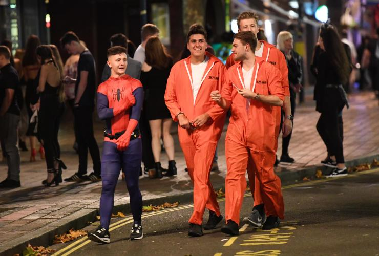 Spiderman seems unfazed that he's chatting to prison escapees