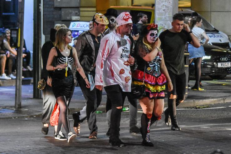 Skeletons, butchers covered in blood and Day of the Dead costumes made an appearance