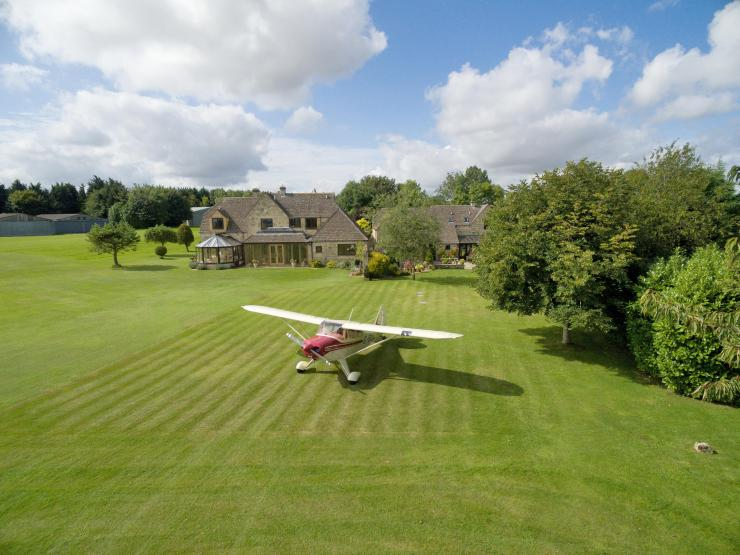 Pooh Corner in the Cotswolds has access to a private airstrip