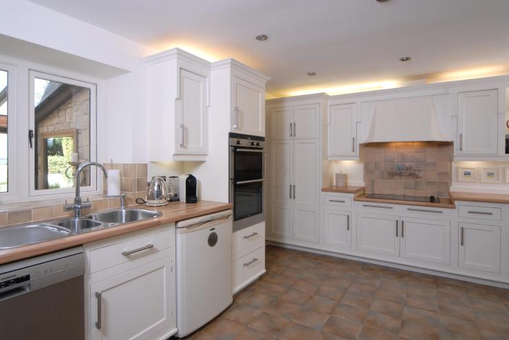 The kitchen in Pooh Corner which is one of four houses with access to the airstrip