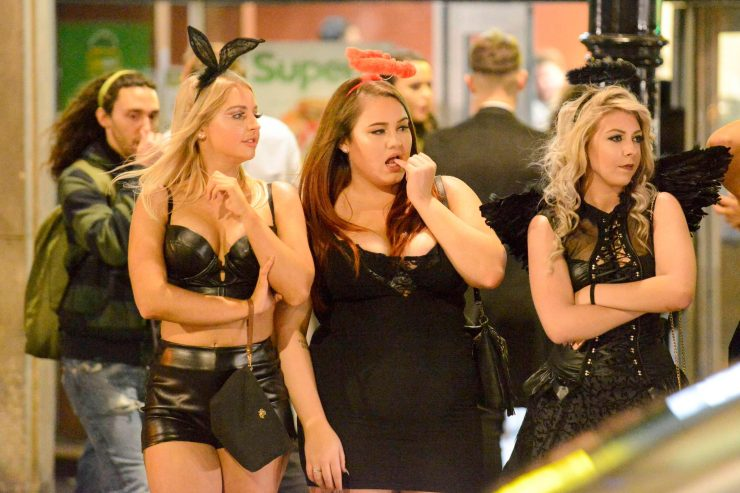 Bunnies and angels walked through Newcastle to celebrate Halloween