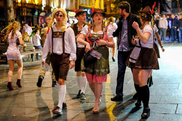 Some revellers may have got Oktoberfest and Halloween mixed up