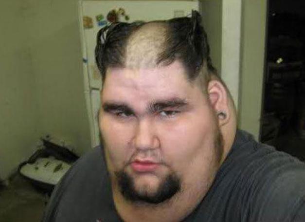 This bloke's hair looked more like devil horns than luscious locks