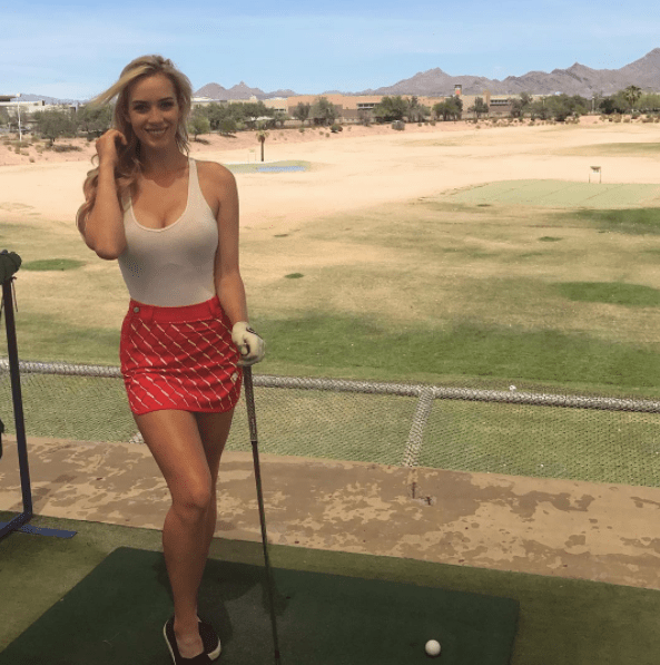 Paige Spiranac will announce the players on the first tee