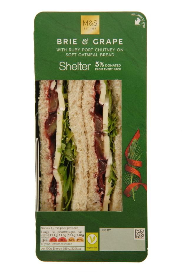 Marks and Spencer's Brie and Grape Christmas Sandwich