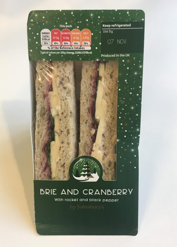 The Sainsbury's Brie & Cranberry sandwich is packed with 519 calories