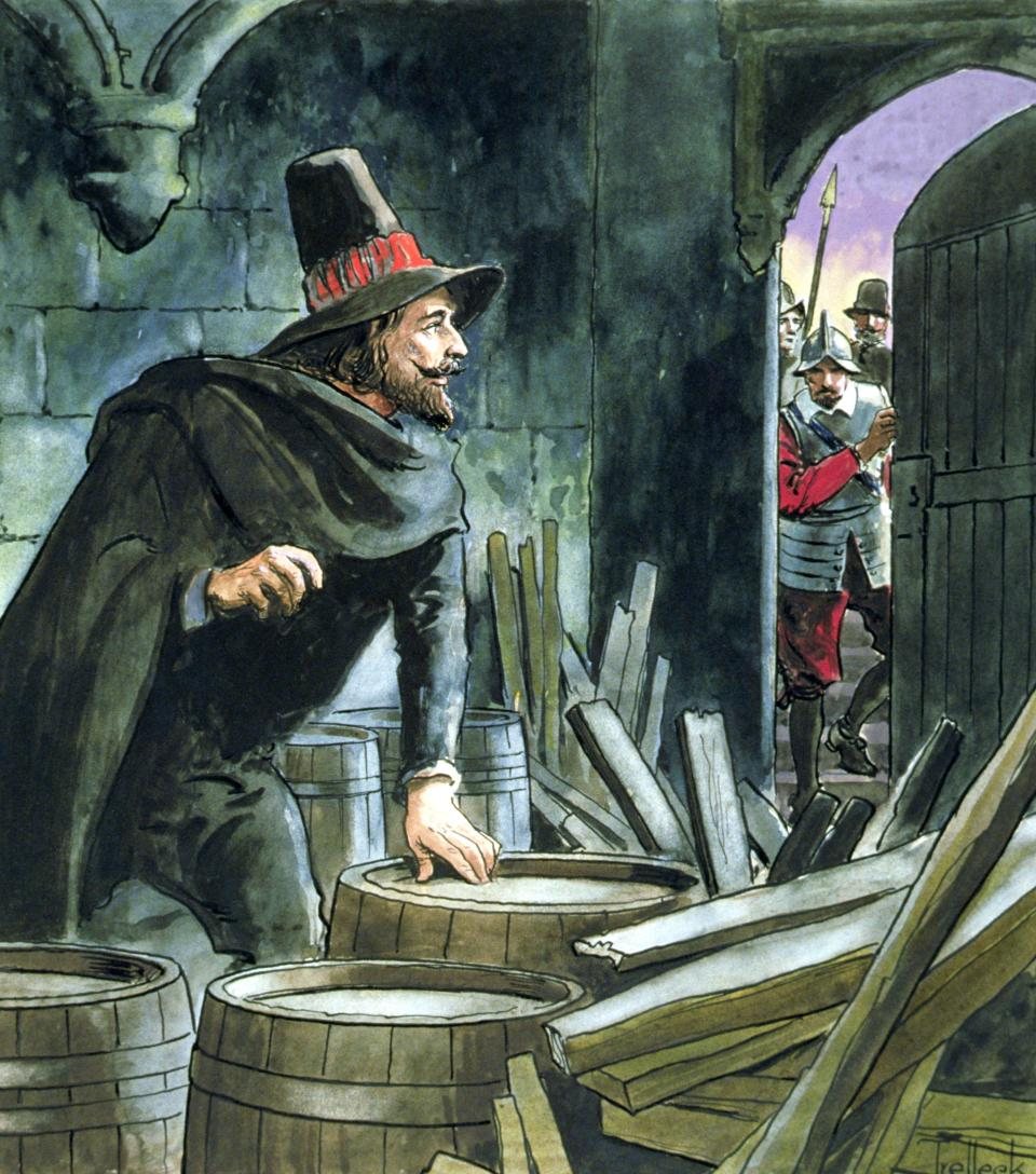 Bonfire night marks the anniversary of the gunpowder plot being foiled when Guy Fawkes was caught in parliament's cellar
