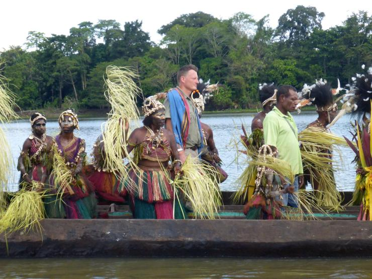 Mr Allen filming in Papua New Guinea less than a year ago