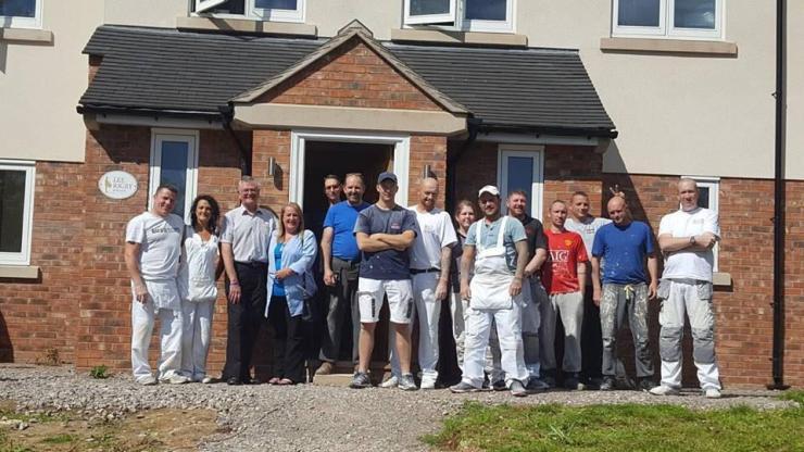 Volunteers at Lee Rigby House