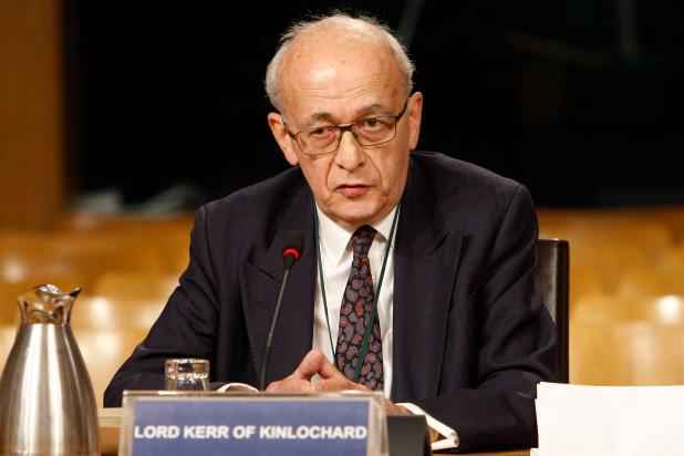 Lord Kerr has accused Theresa May of misleading Britain by saying that there's 'no going back'