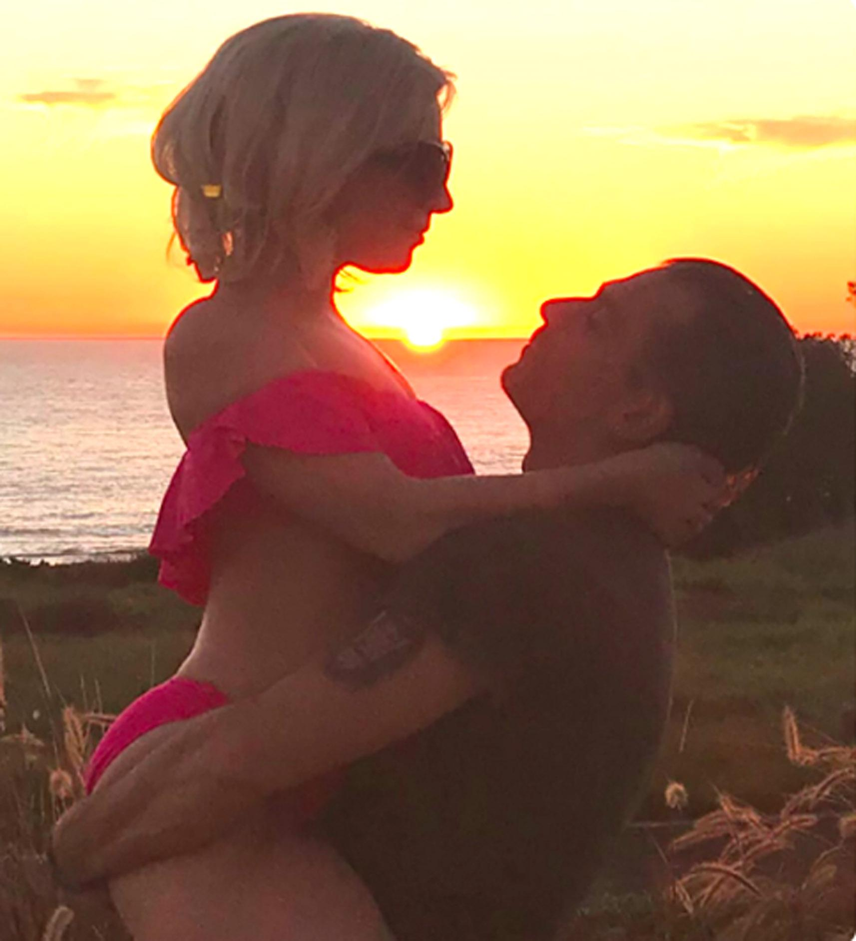 The pair made their relationship official with this romantic photo