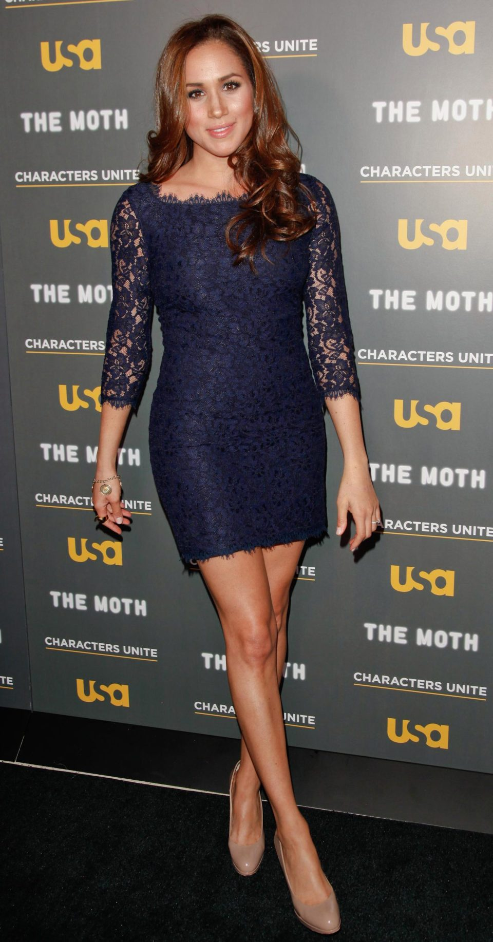 The Suits star has previously been spotted on the red carpet in above-the-knee dresses