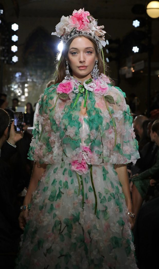 The D&G runway was awash with stunning floral prints