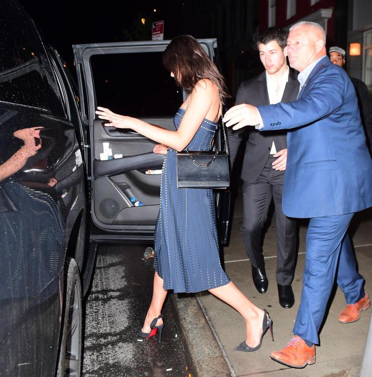 The duo left the party in a cab together