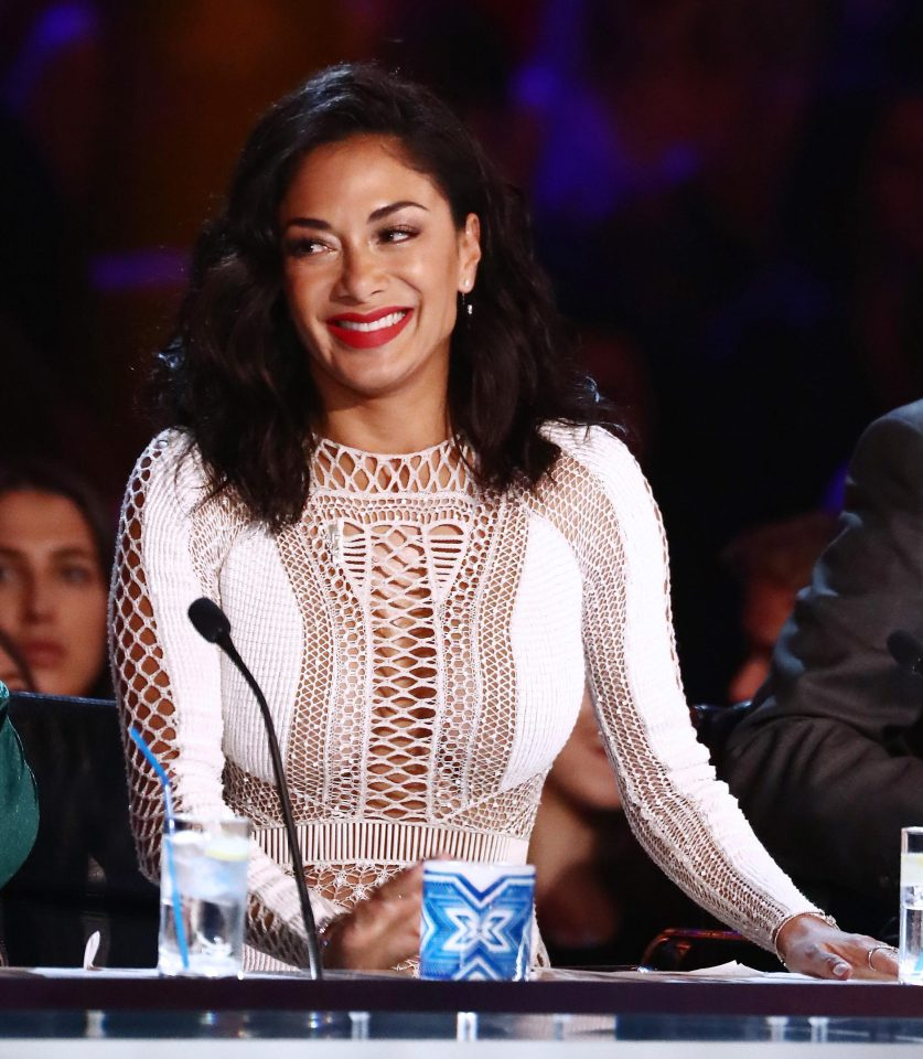 Nicole Scherzinger was seen on last night's X Factor without a poppy