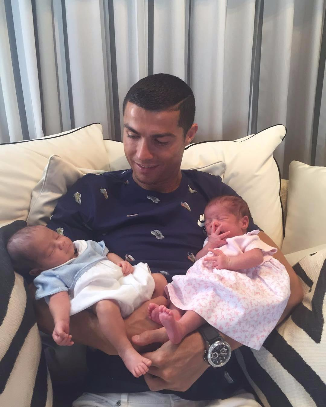 Ronaldo also has twins as well as son Cristiano Jr