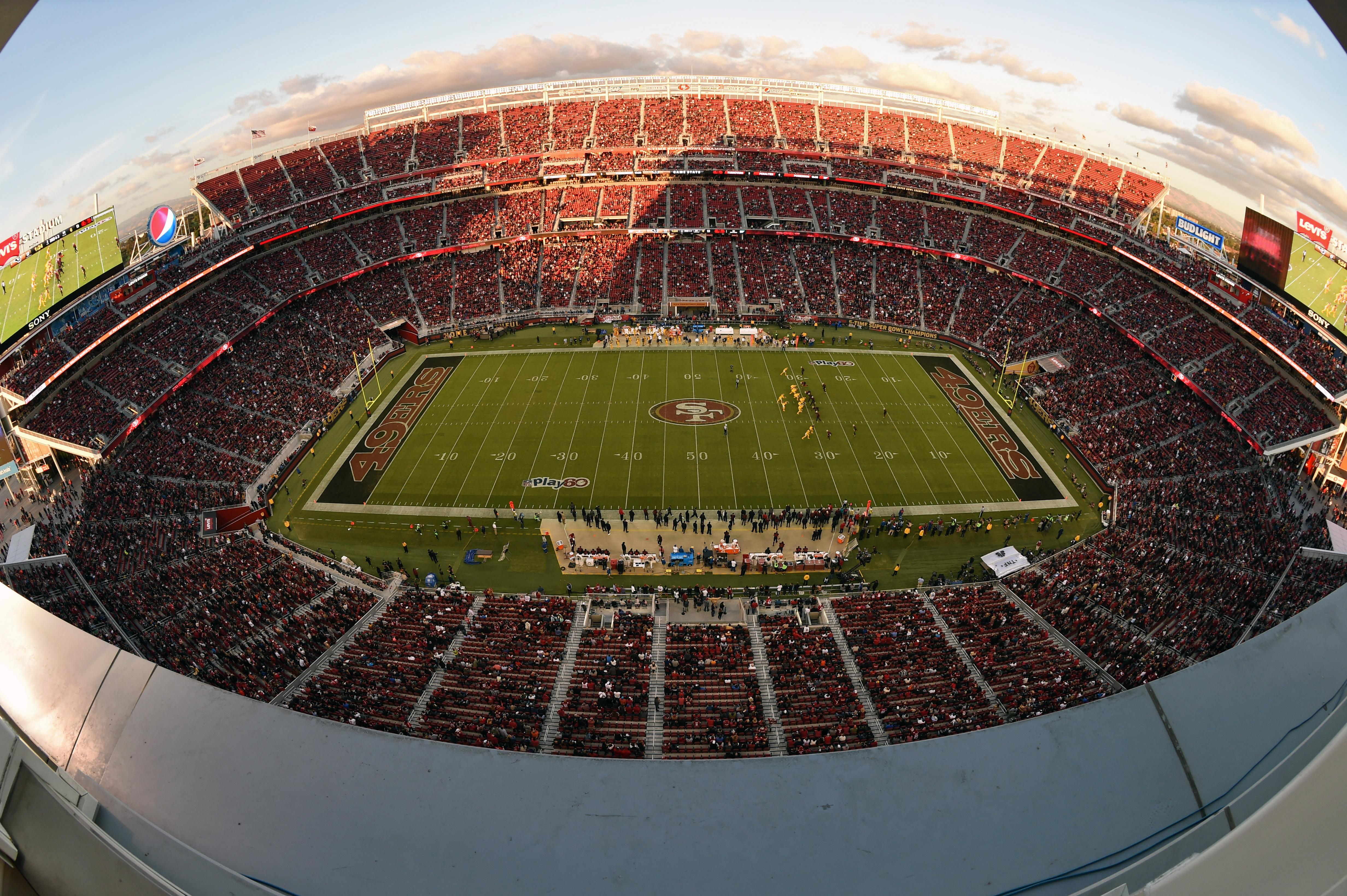 The Levi's Stadium is No7 on our list and home to the San Francisco 49ers