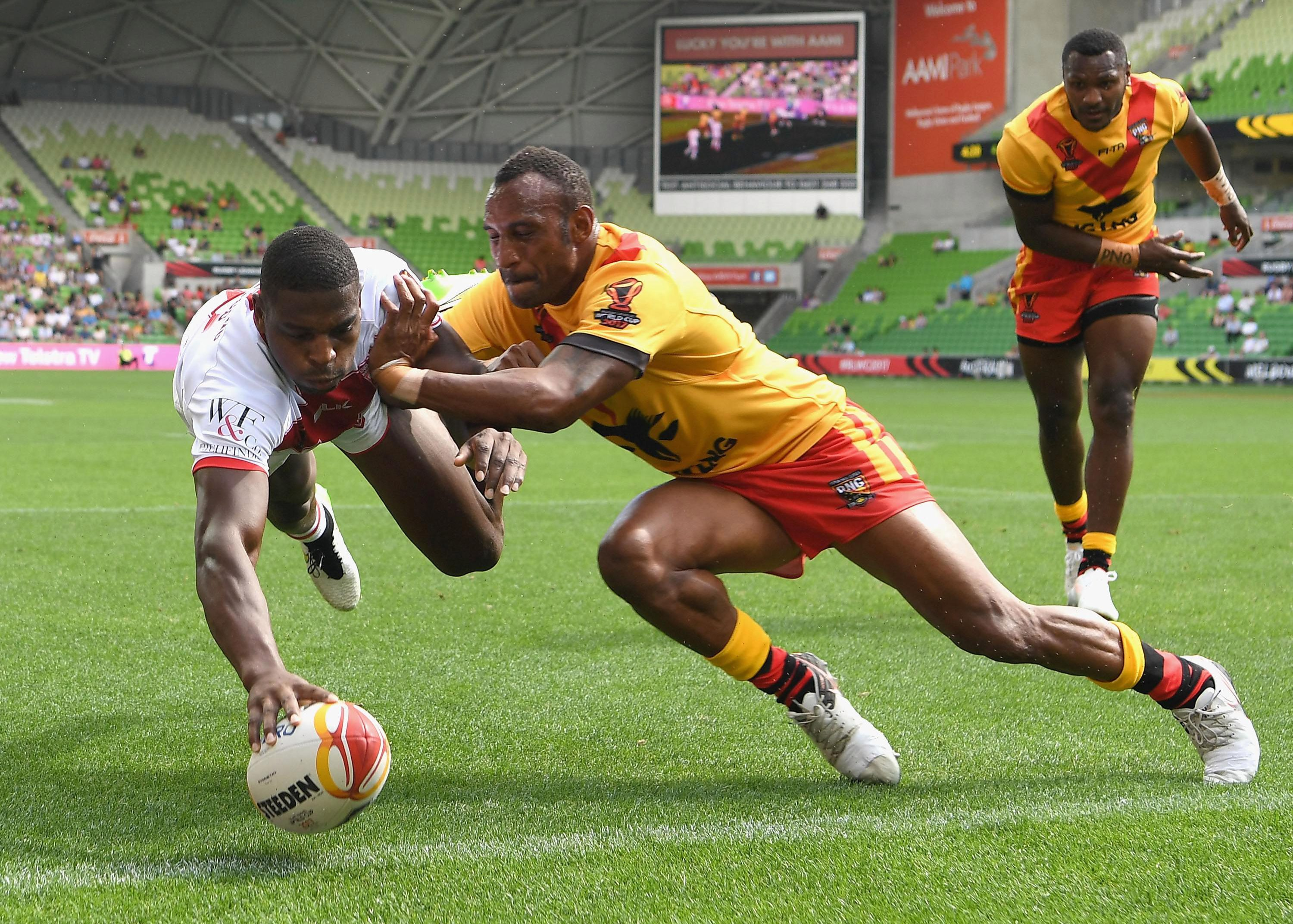 Jermaine McGillvary admits he is starting to tire of being mistaken for Huddersfield team-mate Michael Lawrence