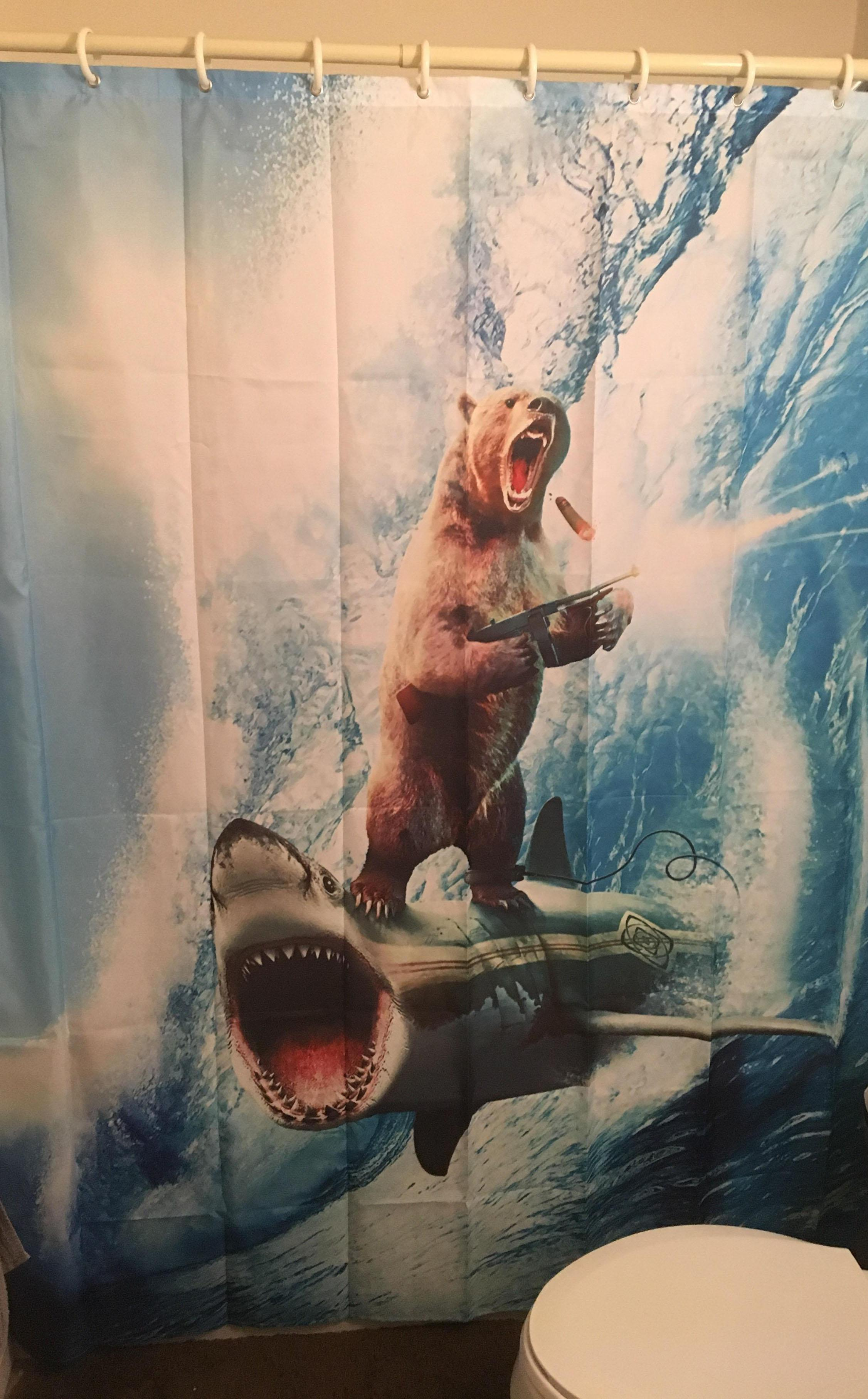 these are the shower curtains people
