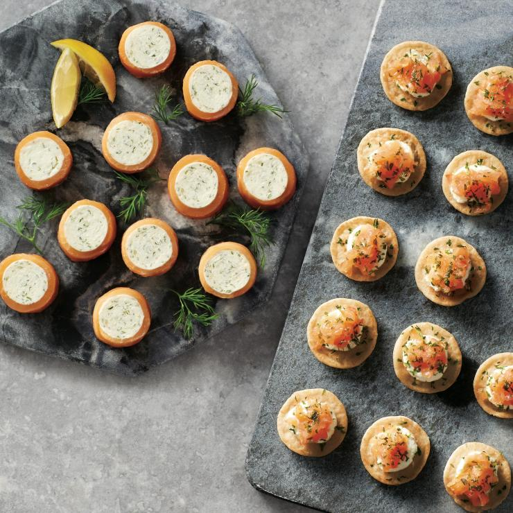 Smoked salmon canapes are sure to be popular at Christmas