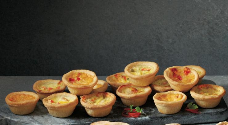 These mini quiches are perfect for passing around at parties