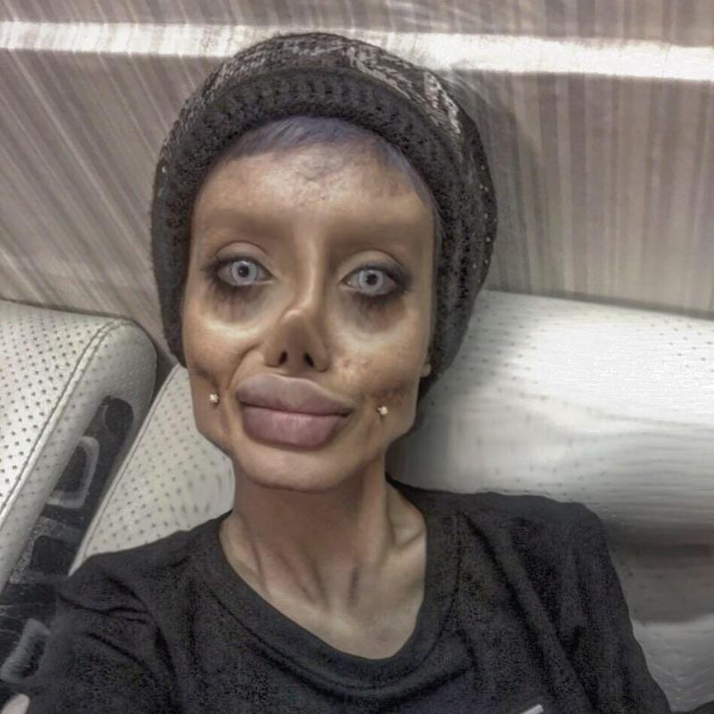 Sahar also has piercings in her cheeks