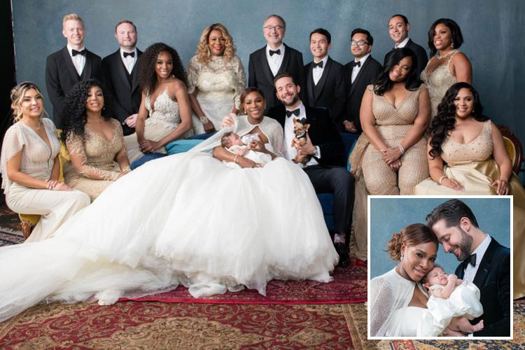 Serena Williams stuns in a HUGE £2.6million wedding dress as she ...