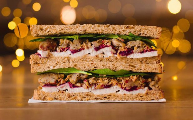 Prets Christmas Lunch sandwich comes in at 482 calories
