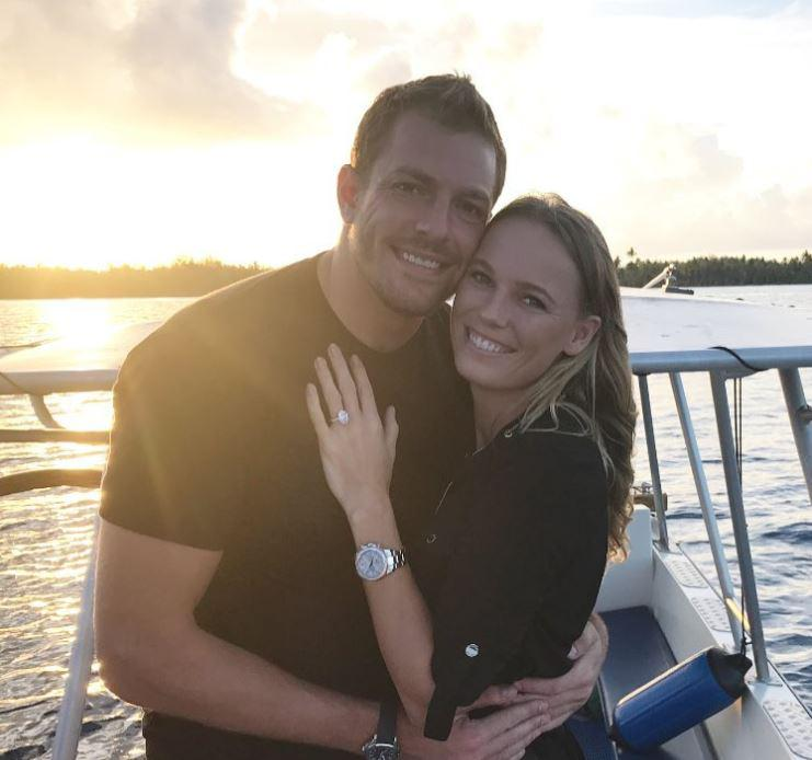 Wozniacki, once the fiancee of golf star Rory McIlroy, is now engaged to former NBA star Dave Lee