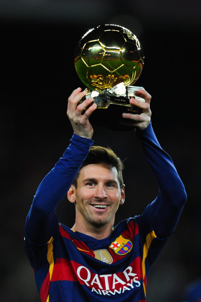 Lionel Messi has won the Ballon d'Or five times in the last nine years