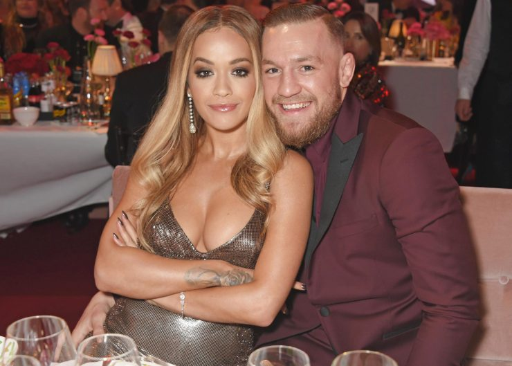 Rita cuddled up to MMA fighter Conor McGregor at the event
