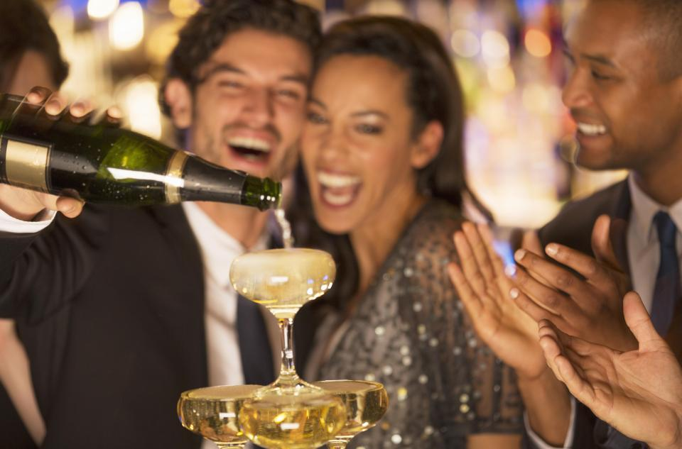 At your Christmas party try opting for drinks that are low in sugar and calories to protect your skin