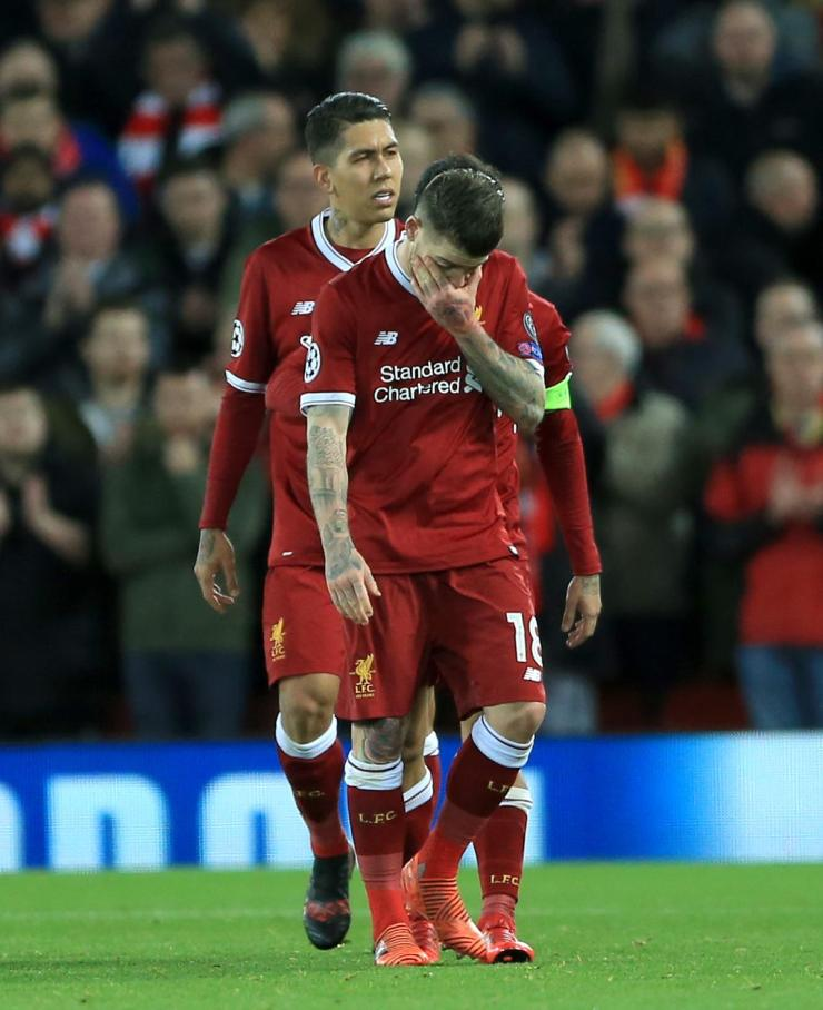 Alberto Moreno was forced off the field in tears against Spartak Moscow
