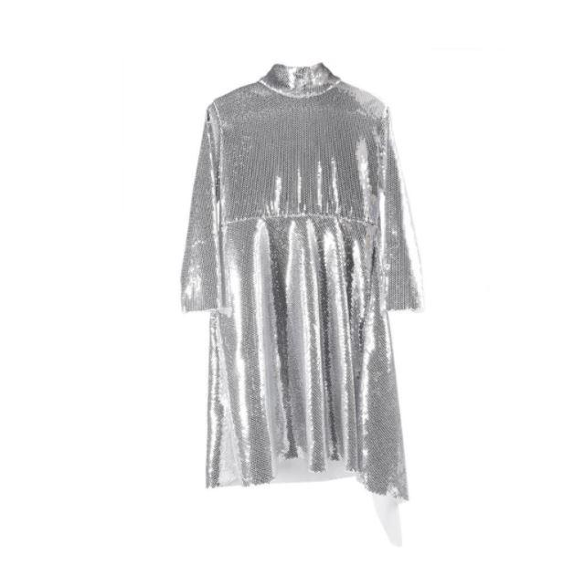 This silver dress has also sold out in less than 24 hours