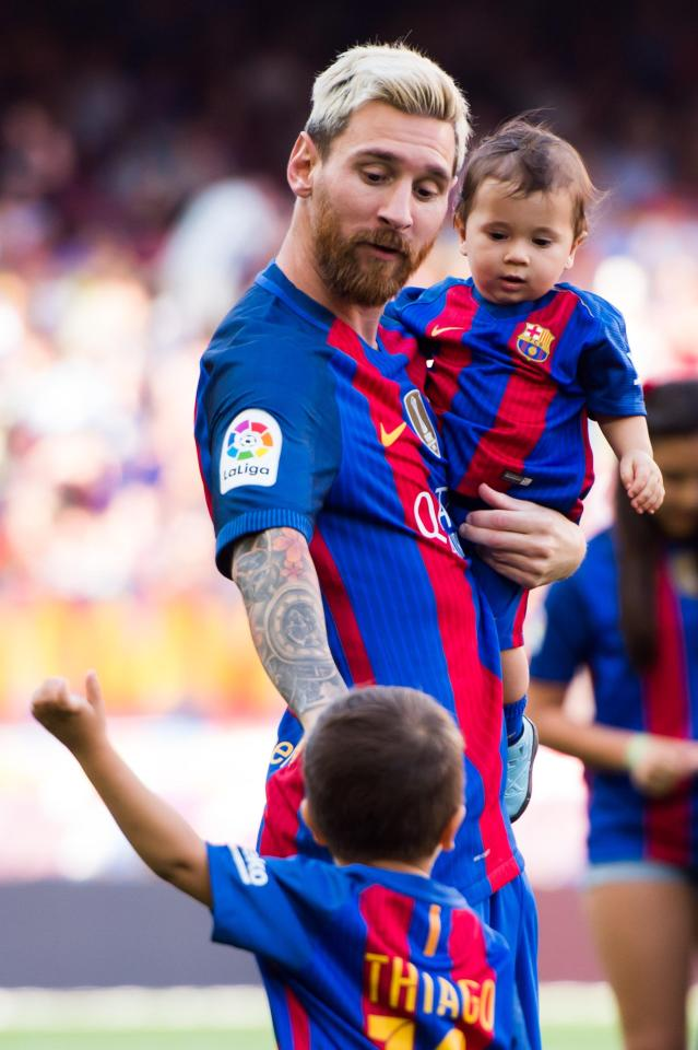Lionel Messi has revealed which one of his young sons is better at football