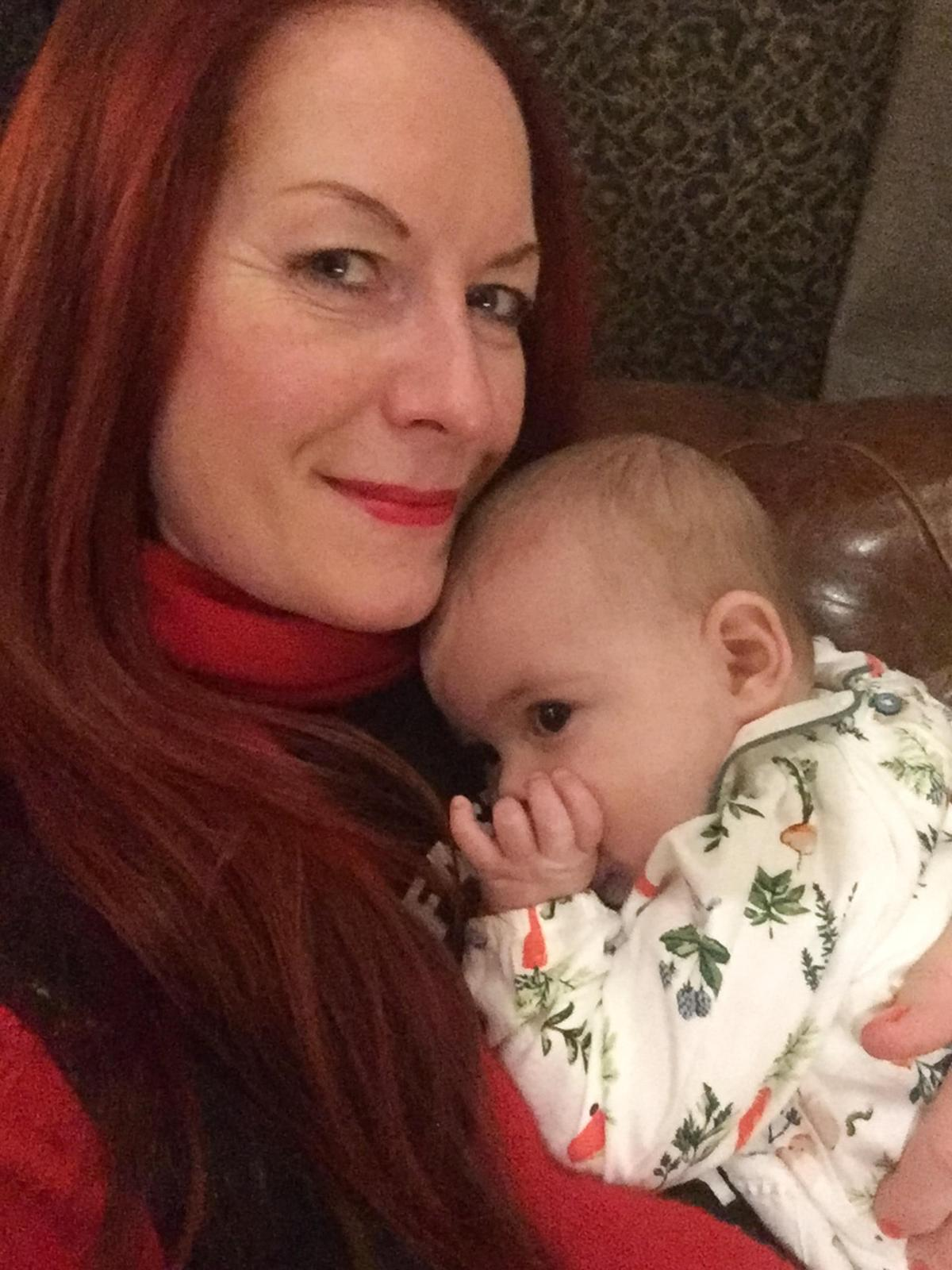 Lisa with baby Izobel, now 17 months old
