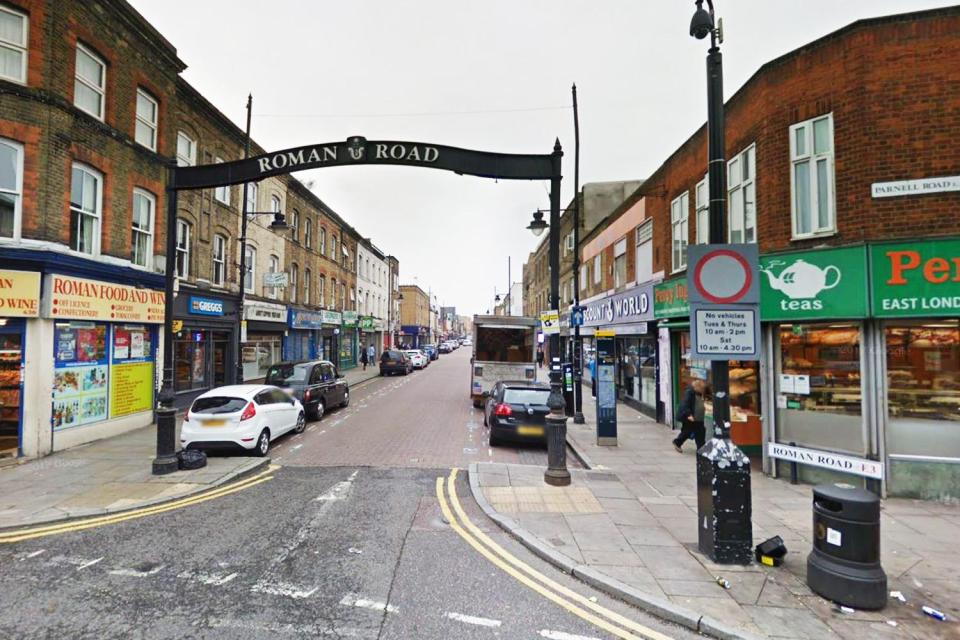 Roman Road in Bow, East London, where Lewis was reportedly raised