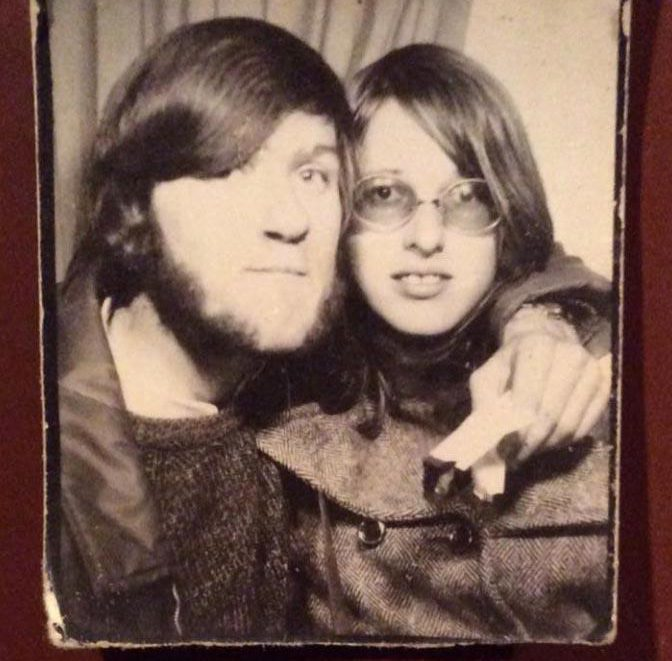 Adrian and Vicki, pictured in their youth, broke up nearly 50 years ago in 1970