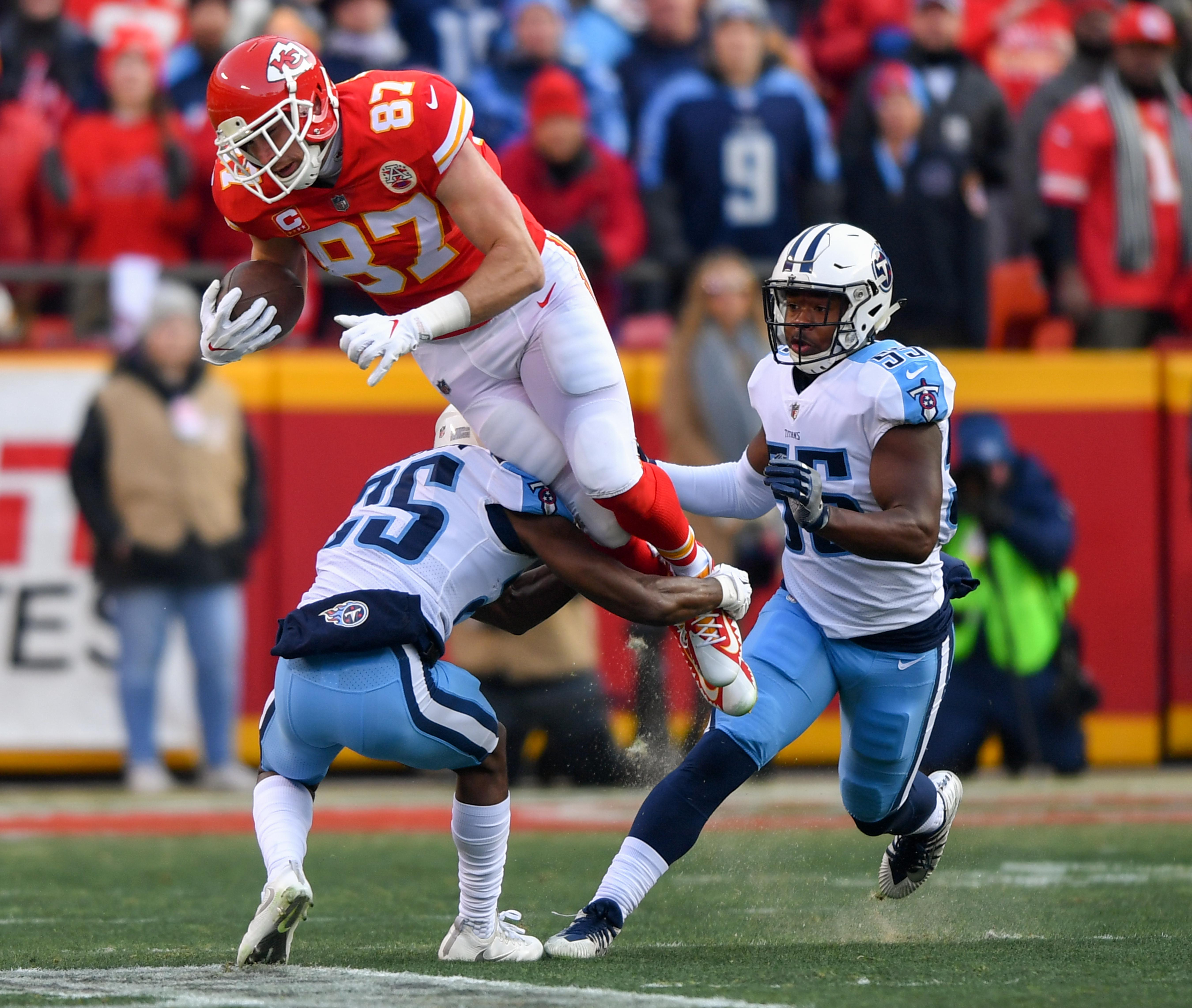 Travis Kelce was injured at the end of the first half and Kansas City Chiefs offence never recovered