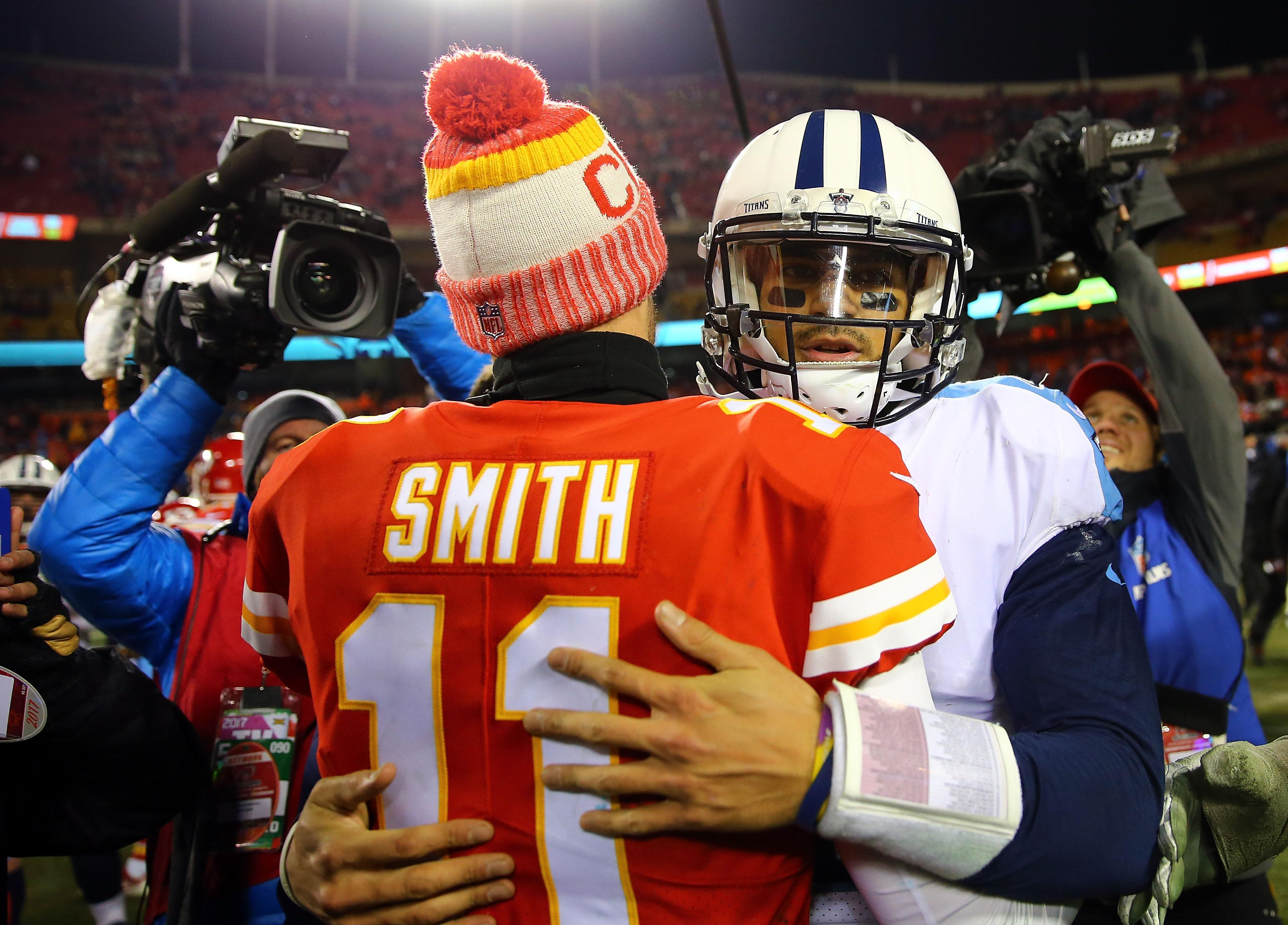 Marcus Mariota and Alex Smith excelled for a half each... but Titans QB came out on top