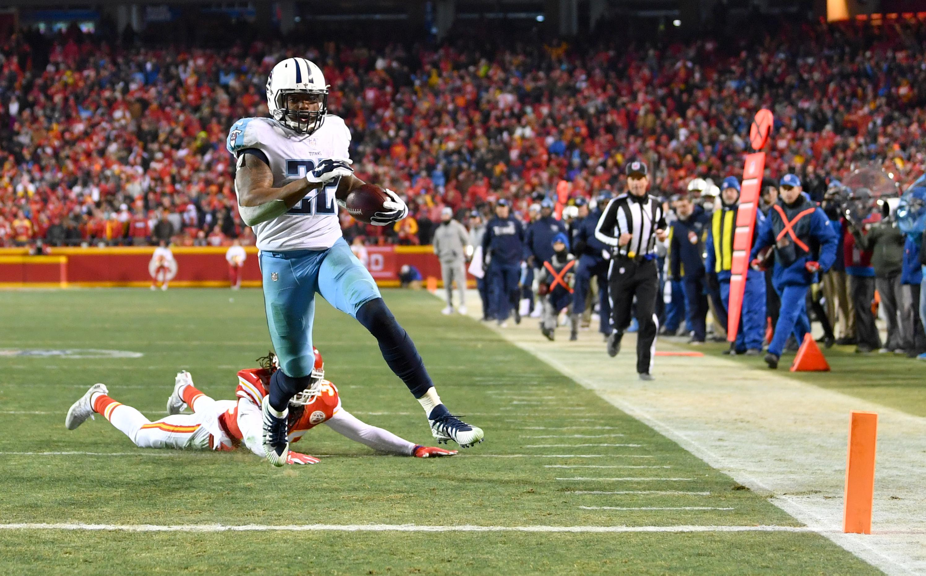 Derrick Henry logged 191 total yards and a touchdown in Tennessee Titans comeback win