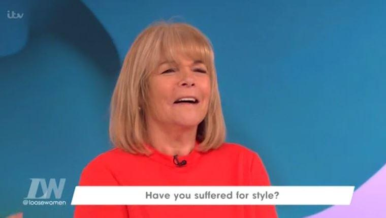 Linda Robinson revealed that she wet herself at a party
