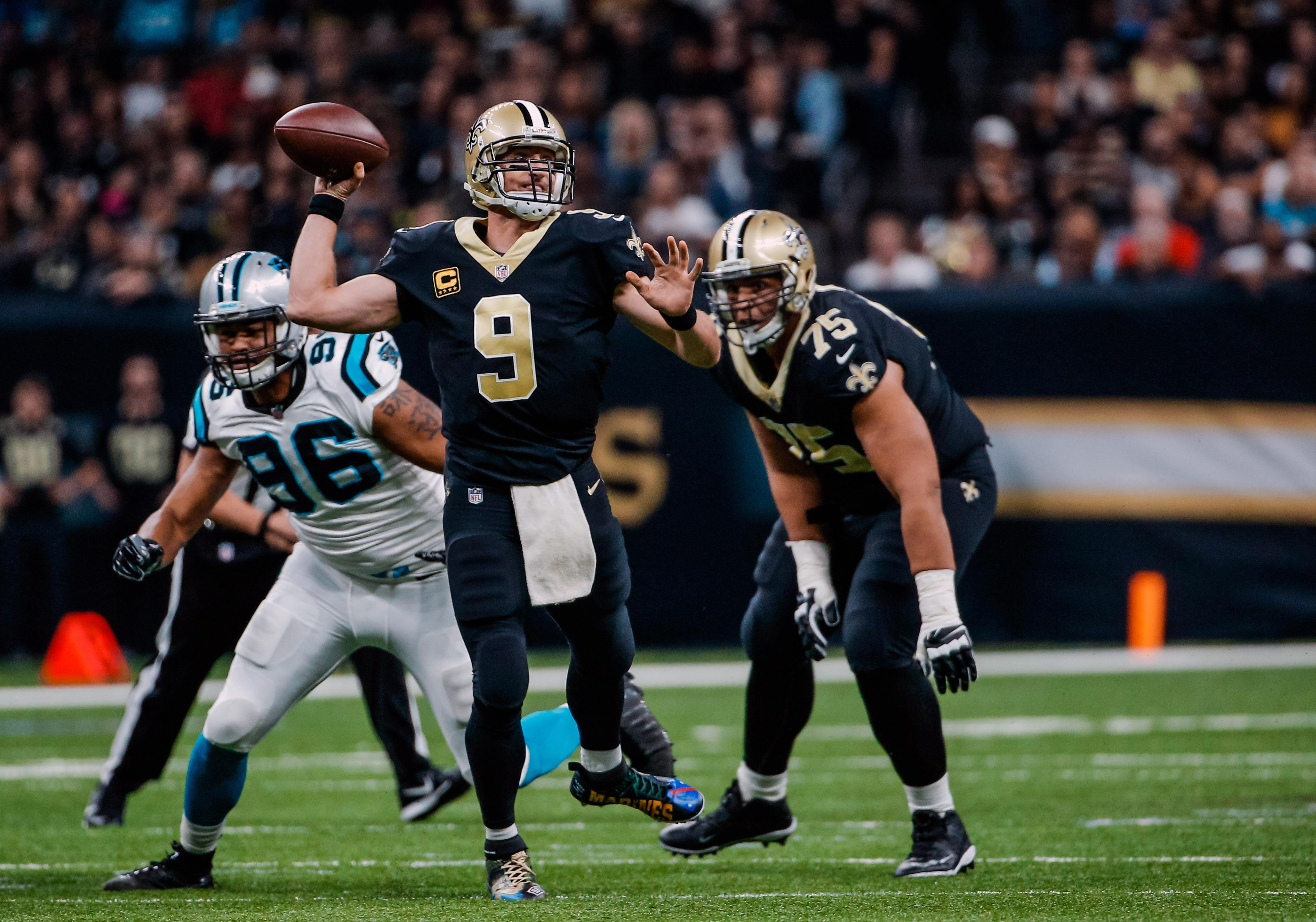 Drew Brees and the Saints have beaten the Panthers twice already this season